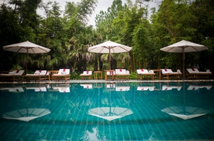 India - Ananda in the Himalayas - Pool Area