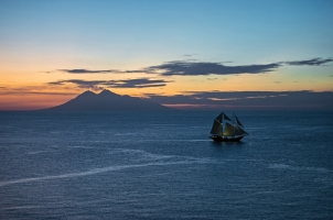 Indonesia Amandira - Sailing at the Sunset