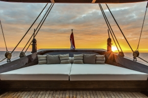 Indonesia Amandira - Stern Lounge Area at sunset
