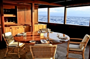 Indonesia Amanikan - Outdoor Galley and Lounge