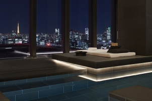 Aman Tokyo - Pool at night