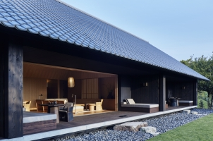 Amanemu - Outside terrace of living area, bathroom and bedroom