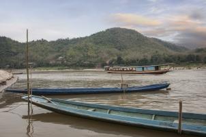 Amantaka - Fishing Boats with Amantaka boat on Mekong