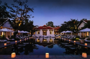 Amantaka - Swimming Pool at night