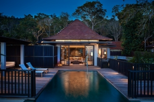 Ritz-Carlton Langkawi - Beach villa Night View