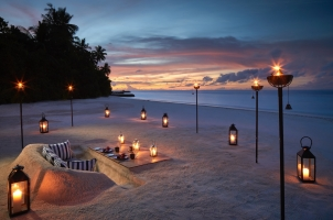 Raffles Maldives - Beach Dinner