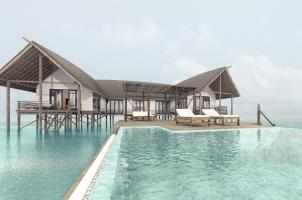 COMO Cocoa Island - Water Villa Pool View
