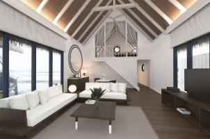 COMO Cocoa Island - Dhoni Loft Water Villa Living Room