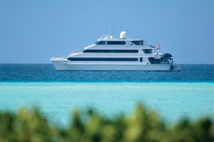Maledives Four Seasons Explorer - Ship on the water