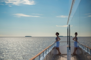 Maledives Four Seasons Explorer - View on the ship
