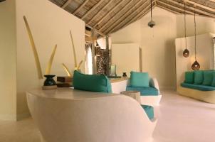 Maledives Six Senses Laamu - Spa reception