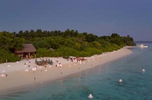 Maledives Soneva Fushi - Sobah Aerial