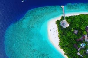 Maledives Soneva Fushi - Aerial of the Resort