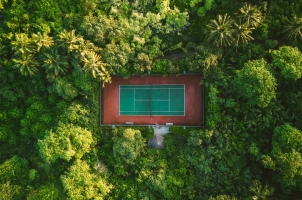 Maledives Soneva Fushi - Tennis Court
