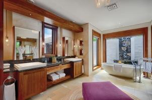 Shangri La's Le Touessrok - Beach Villa Bathroom