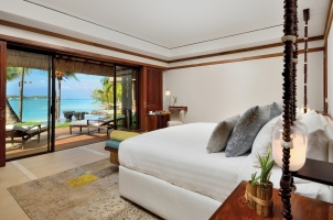 Shangri La's Le Touessrok - Beach Villa Bedroom