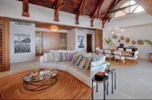 Shangri La's Le Touessrok - Beach Villa Living Room