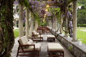 Montenegro - Aman Sveti Stefan - Villa Milocer Loggia (terrace and dining)