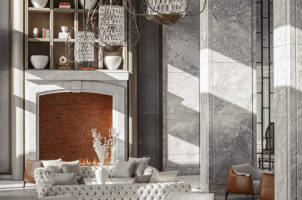 One & Only Portonovi Montenegro - Lobby Fireplace