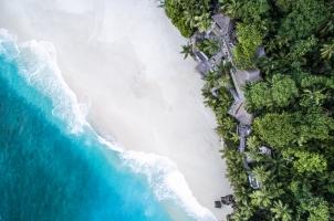 Seychelles North Islands - Aerial Shot of Villa
