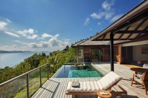 Six Senses Zil Pasyon Seychelles - Panorama Pool Villa Deck