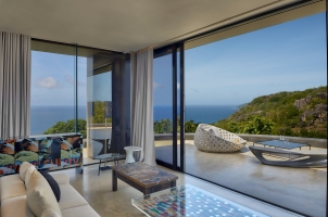 Six Senses Zil Pasyon Seychelles - Master Lounge and Terrace