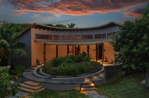 Six Senses Zil Pasyon Seychelles - Spa Reception Sunset