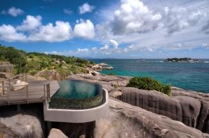 Six Senses Zil Pasyon Seychelles - Spa Pool View