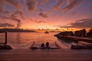 Six Senses Zil Pasyon Seychelles - Sunset from Koko Bar