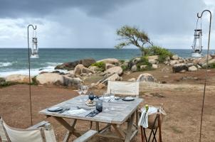 Wild Coast Tented Lodge - Beach Dinner