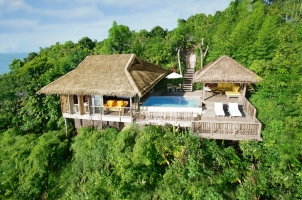 Six Senses Yao Noi - aerial view one bedroom pool villa