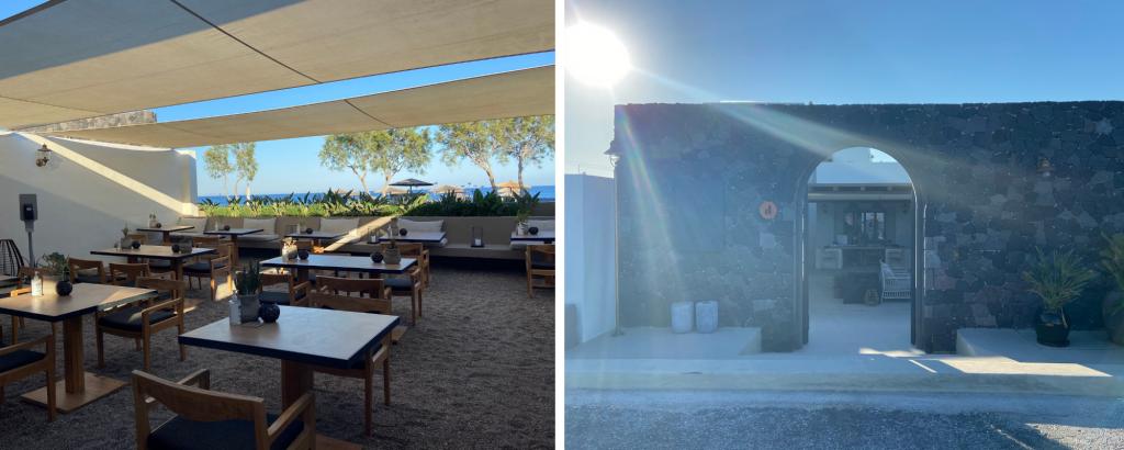Entrance & Restaurant Istoria Hotel Santorini
