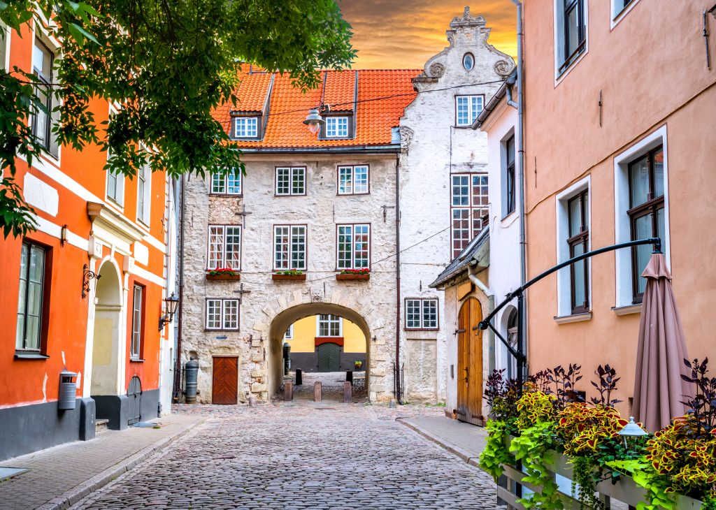 Baltic States - Latvia - Old streets in Riga