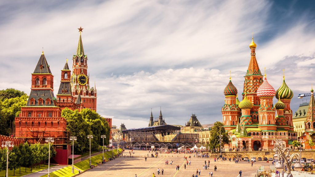 Kremlin Moscow - St. Basils Cathedral on red square