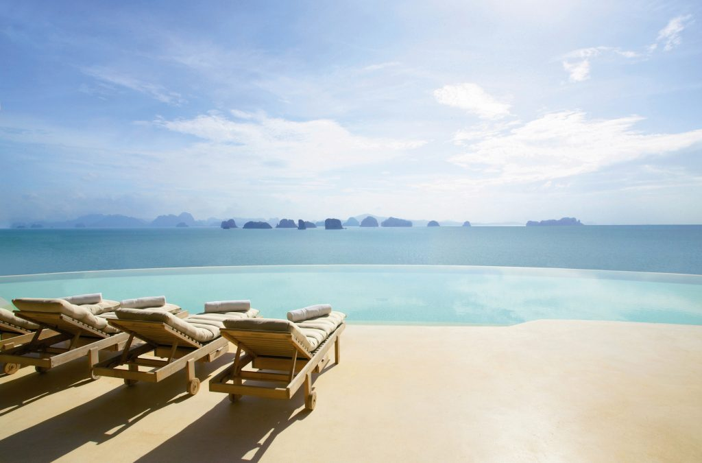 Six Senses Yoa Noi mainpool at the hilltop